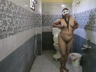 Fat Titty Indian Bhabhi Dipinnita Taking Shower
